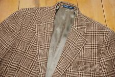 Polo Ralph Lauren CORNELIANI Brown Wool TWEED Plaid Jacket Sport Coat 40 S 2VENT