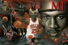 Michael Jordan MJ 24x36 Poster Air Wings NBA Basketball Chicago Bulls Wall Art