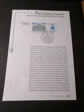 FRANCE 2006 NOTICE DOCUMENT FDC timbre 3926, ARCHITECTURE OPERA GARNIER 1° JOUR