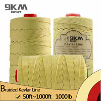 1000lb Braided Kevlar Line Tent Rope Hiking Safety Cord 15-304m Made with Kevlar