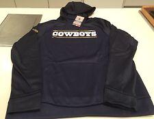 Dallas Cowboys Logo Jersey Sudadera con capucha de rendimiento Sideline de oro Nfl Grande Azul