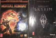 Elder Scrolls V Skyrim Prima & Mortal Kombat Official Game Guide Lot Of 2