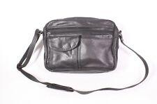 #2B Picard Damen Tasche Leder schwarz Crossbody Messenger Bag Umhängetasche