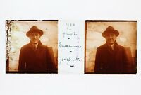 Uomo Cappello Lausanne Suisse Foto Placca P45L4n7 Lente Positivo Stereo 1922