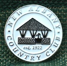 """Limited Edition_ NEW ALBANY COUNTRY CLUB 1922 _ 1"""" Ni-Silver Plated Ball Marker"""