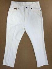 FF903 WOMENS WRANGLER TINA WHITE STRAIGHT LEG STRETCH DENIM JEANS UK 12 W30 L32