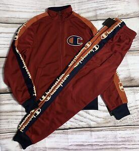 Size Medium 2pc Set 100% Authentic Champion Life Men TrackSuit Red Pant & Jacket