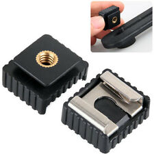 Flash Cold Hot Shoe Bracket Mount Adapter Screw For Studio Speedight Tripod TW$m