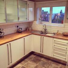 Colmar Oak effect Kitchen Worktop 40mm, Laminate 3m.x 600 X 38mm Curved Edge.