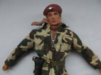 Vintage 1964 PALITOY Action Man British Paratrooper, Uniform & Beret VGC