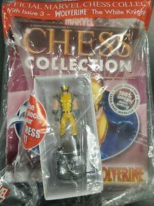 Eaglemoss Marvel Chess Piece Wolverine Figurine #3 w/magazine White Knight NEW