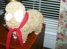 New listing New! Primitive Country Farmhouse Folk Art Colonial Wooly Sheep On Wood Base
