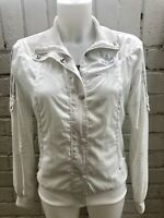 Woman's Adidas Originals Track Top Size 14 White Ladies Jacket