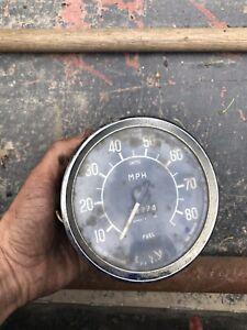 AMC NASH METROPOLITAN SPEEDOMETER CLUSTER 1180 SMITHS England Odometer