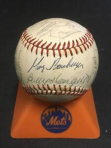 1982 NY Mets team signed NL Baseball 25 Auto George Foster Rusty Staub COA