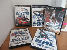 Lot of 5 Playstation 2~PS2~SPORTS Games~Nascar~Final Four~NHL~Madden~NBA Live