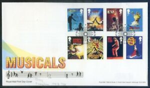 Great Britain 2011 Musicals set 6 on fdc, special postmark (2020/11/03#11)