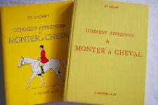 COMMENT APPRENDRE A MONTER A CHEVAL EQUITATION LICART ILLUSTRE MOREAU DE TOURS