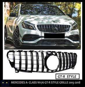MERCEDES A-CLASS W176 GRILLE GRILL FACELIFT SEP2015-2018 A45 GT-R PANAMERICANA