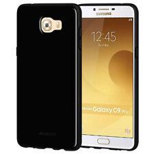 AMZER Soft Gel Pudding TPU Case - Black For Samsung Galaxy C9 Pro
