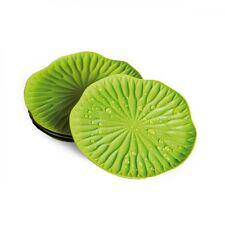 Set 4 sottobicchieri Qualy Bai Bua coaster Lotus verdi a forma di foglia