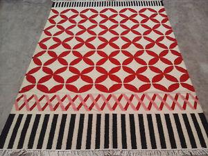 Turkish Oriental Area Rug 5x8 ft Handmade Woollen Kilim Dhurrie Hand-Woven Kelim