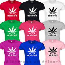 COCAINE AND CAVIAR Addicted MARIJUANA SMOKE WEED EVERYDAY GANJA 420 POT T-Shirts
