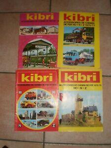 KIBRI ACCESSOIRES DE CHEMIN DE FER HO+N+Z LOT DE CALOGUES DE 1974 A 1979 EN TBE