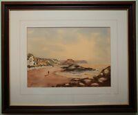 Original Watercolour Painting BALLINTOY BEACH signed by JOHN JOHNSON Irish Art