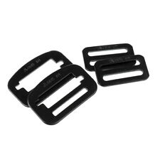 2 Pairs Alloy Steel Fasteners Locking Clips for Rock Climbing Harnesss Black