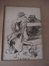 Dessin original  par julien Leblant deux poilus sur un bang 1917