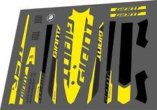 GIANT TCR Advanced SL 2016 Frame Sticker Factory Decal Adhesive Vinyl Set Yellow