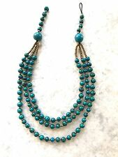 Tagua, Acai Seed Necklace. Handcrafted Tagua Nut Teal  Necklace