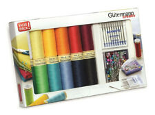 Gutermann Sew-all Thread Set 12x100m + Schmetz Needles +Prym pearl head pins