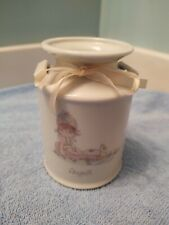 1987 Precious Moments Birthday Series Milk Can Jug Vase August