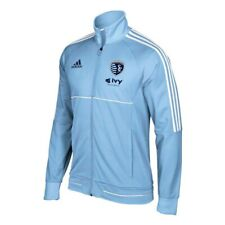 Sporting Kansas City MLS Adidas Sideline Light Blue Full-Zip Anthem Track Jacket