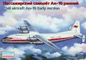 Eastern Express 14484 Soviet Antonov An-10 Early Version Civil Aircraft 1:144