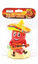 Solar Red Chili Playing A Guitar w/ Sombrero Solar Powered Dancing Toy NEW
