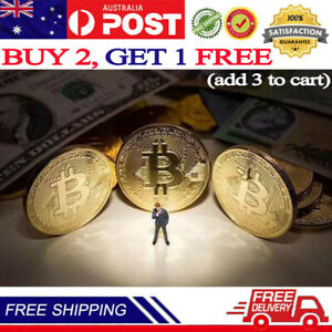 Bitcoin Collectible Coin BTC Gold Plated 1 Ounce 40mm Limit Collection Send Gift