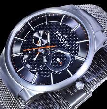 Skagen Herren Uhr Armband Silber Farben Datum Multifunktion Edelstahl Titan