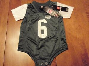 New Mark Sanchez New York Jets Reebok NFL One Piece Size 6-9 Months #6 with tags