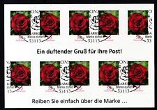 BRD 2008 Folienblatt 7 mit MiNr. 2675 Gartenrose ESST Bonn  01.03.2010