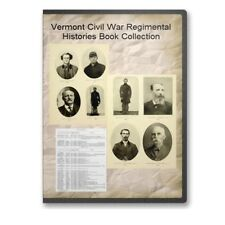 Vermont VT Civil War Regiment Genealogy Volunteers Army Navy 18 Book Set - B501