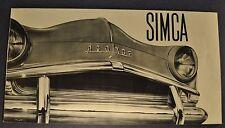 1957 Simca Aronde Brochure Elysse Deluxe Grand large Pickup Excellent Original