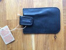 Superdry Men's  Women's Phone holder case Black Leather.New