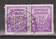 Indonesia 78 pair TOP CANCEL GALANG Cijfer 1951 : NU VEEL MEER INDONESIE