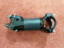 "Black carbon/alloy bike bicycle stem 1 1/8"" steerer, 31.8 clamp, 90mm reach"
