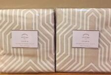 "NEW 2PC Pottery Barn Isla Print 84"" Drape LIGHT TAUPE"