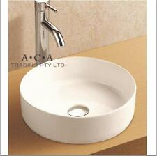 ACA Bathroom Above Counter Top Basin Vanity Sink Ceramic Gloss White 355mm Round