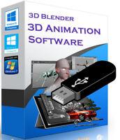 3D Animation Blender Graphics Cartoons Design Software USB